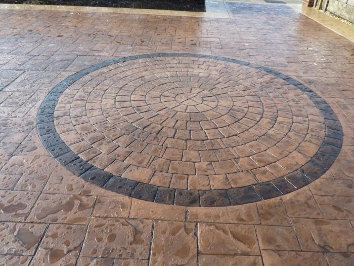 pattern imprinted concrete driveways driveways northwest